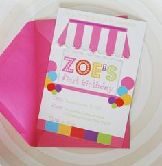 zoe's birthday invitation     #candyland #invitation
