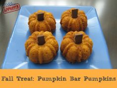 Toddler Approved!: Fall Treat: Pumpkin Bar Pumpkins {Kid's Co-op}. Fall is coming quickly!! What are your favorite pumpkin treats?