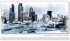 London Skyline Canvas