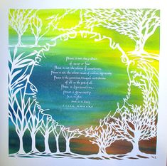 Peace and Justice card  quotation from Oscar Romero   by jerise, $15.00