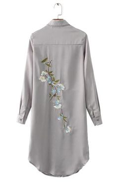 Trendy-Road-Style-Shop-Online-Woman-Fashion-Street-shirt-dress-long-back-floral-embroidery-satin-gray