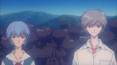 Neon Genesis Evangelion : rei and kaworu Manga Anime, Anime Art, Rei Ayanami, Neon Genesis Evangelion, Aesthetic Anime, Akira, Cosplay Costumes, Fan Art, Pictures