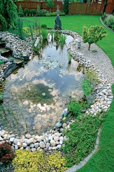 Genius Low Maintenance Rock Garden Design Ideas for Frontyard and Backyard - DIY Garten Landschaftsbau Rock Garden Design, Pond Design, Landscape Design, Backyard Water Feature, Ponds Backyard, Garden Ponds, Garden Planters, Backyard Ideas, Landscaping With Rocks
