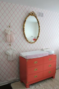 Love these:: Beautiful nurseries with dramatic mirrors as decor accents #BabyCenterblog #ProjectNursery
