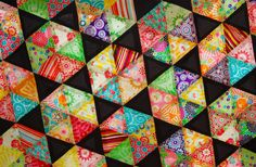 Hexagon triangle quilts