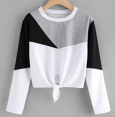 Color Block Knot Front T-shirt Belted Shirt Dress, Tee Dress, Cute Comfy Outfits, Stylish Outfits, Teen Fashion Outfits, Girl Outfits, Mode Swag, Mode Kpop, Jugend Mode Outfits