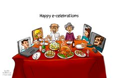 As we're entering the second month in lockdown, a lot of us are getting used to celebrating holidays via screens for the first time of our lives. Even though we're trying to come up with creative ways to keep the celebrations going, the atmosphere is different with everybody self-isolating at home. The post Cartoon of the Week: Happy e-celebrations appeared first on eXo Platform Blog.