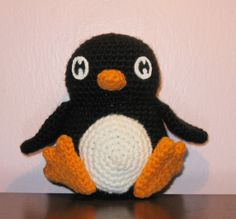 I love how the eyes give this penguin his charm.  from Rheatheylia.com  It's a FREE pattern too!