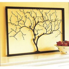 Branches diy wall art and wall art on pinterest for Tree trunk wall art
