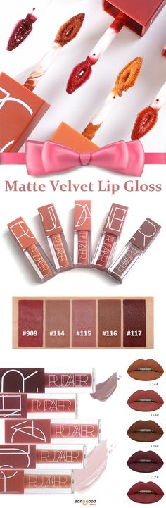 PUDAIER Matte Velvet Lip Gloss Liquid Long Lasting Kiss Proof Waterproof  Makeup Cosmetics 938ef7a0abf77