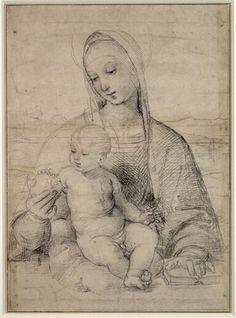 Raffaelo Santi, Die Madonna mit dem Granatapfel, um 1504 © Albertina, Wien