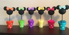 Minnie Mouse Centerpiece Minnie Mouse Birthday party by AmyJays
