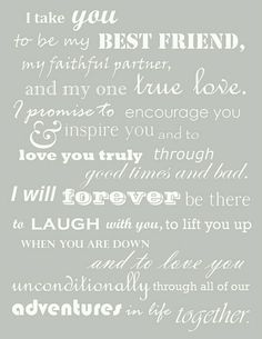 Really good vows.