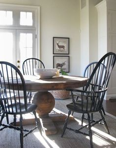 Dark Chairs With Light Woodwork