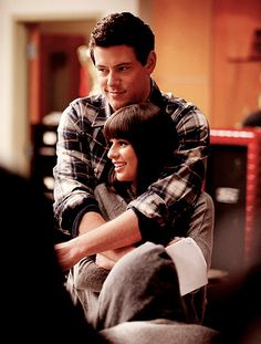 Close hugs, not to mention my favorite TV couple of all time Finn Hudson & Rachel Berry.