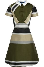 Ostwald Helgason Striped twill dress