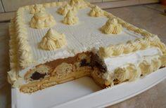 Sastojci: - 1 l mlijeka - 3 pudinga od vanilije - 1 kasika gustina - secera u prahu - . Romanian Desserts, Croatian Recipes, Sweet Cakes, No Bake Cake, Vanilla Cake, Baking Recipes, Waffles, Sweet Treats, Pie