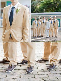 I like for grooms men attire for beach wedding