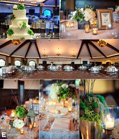 saratoga national by fleurtacious designs Wedding Venue Decorations, Rustic Wedding Centerpieces, Wedding Tables, Wedding Venues, Table Decorations, Lantern Centerpieces, Floral Centerpieces, Sister Wedding, Wedding Stuff