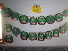 Mrs. Miner's Kindergarten Monkey Business: Go Away Big, Green Monster Activity and Freebie
