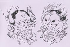 japanese mask tattoo - Google Search