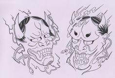 japanese mask tattoo - Google Search