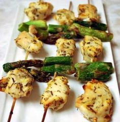 Chicken and Asparagus Skewers - low carb - sooo yummy!