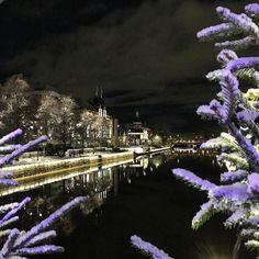 Näkymä Turun Teatterisillalta View from the in Beautiful Lights, Finland, Bridge, River, Instagram, Legs, Attic Rooms, Rivers