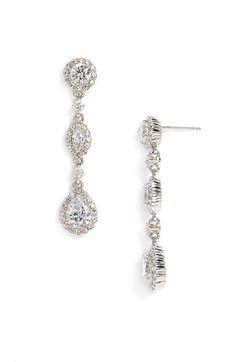 Nadri Framed Cubic Zirconia & Crystal Drop Earrings | Nordstrom