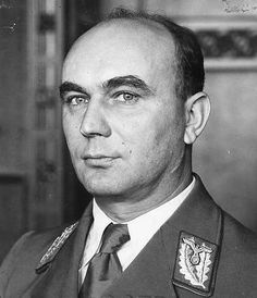 Arthur Karl Greiser January 1897 – 21 July was a Nazi German politician, SS-Obergruppenführer and Reichsstatthalter (Reich Governor) of the German-occupied territory of Wartheland. Poland Ww2, Nuremberg Trials, Evil People, The Third Reich, Portraits, Military History, World War Ii, Wwii, 21 July