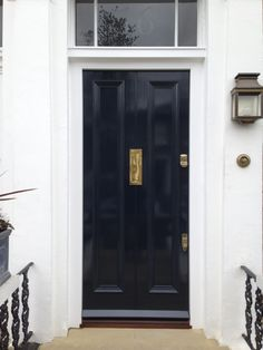 London front door beautifully finished
