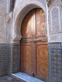 Africa | One of the beautiful doors in Fes, Morocco | © Glen and Rob's Excellent Adventure