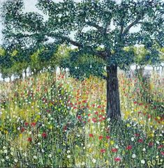 Buy Wildflower Meadow Acrylic painting by Roz Edwards on Artfinder. Happy Paintings, Realistic Paintings, Colorful Paintings, Paintings For Sale, Love Painting, Acrylic Painting Canvas, Painting Tips, Anime Comics, Price Artwork