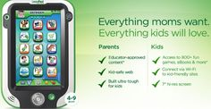 LeapPad - we both like this, This gonna help to get more interested in learning. This gadget would increase his learning more faster.