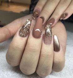 49 Best Glitter Nail Art Ideas For Glam Looks glam nails, glitter . - 49 Best Glitter Nail Art Ideas For Glam Looks glam nails, glitter nail art designs, g - Colorful Nail Designs, Acrylic Nail Designs, Nail Art Designs, Nails Design, Brown Nail Designs, Neutral Nail Designs, Glam Nails, Pink Nails, Gold Gel Nails