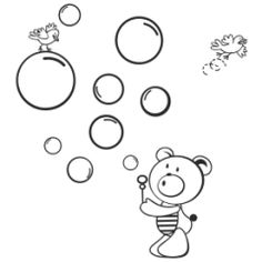 Teddy bear wall decal #3 Bubbles | Starting from $10 |  Customize:  •Colours(36) •Size(7) •Orientation •Finish (mat or glossy)  | PayPal payment, worldwide delivery | For order and details: http://fuzzypi.com/index.php?route=product/product&path=63_113&product_id=245