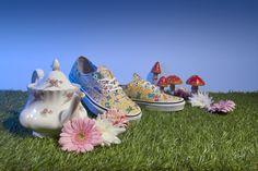 Vans yellow Alice in Wonderland trainers
