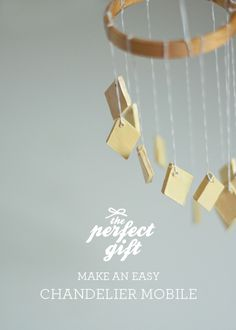 The Perfect Gift: Clay Chandelier Mobile