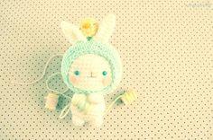 bunny free  crochet pattern by amigurumei
