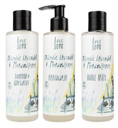 Love Soap Ltd Lavender and Meadowfoam range - Organic bath products for children