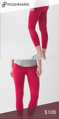 NWT lululemon zone in crops NWT lululemon zone in crops perfect condition, no flaws size 2 lululemon athletica Pants Leggings