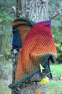 Ullcentrum: Diagonal rainbow /Diagonal regnbåge - free Tunisian crochet shawl/wrap pattern in English or Swedish by Ulrika Andersson.