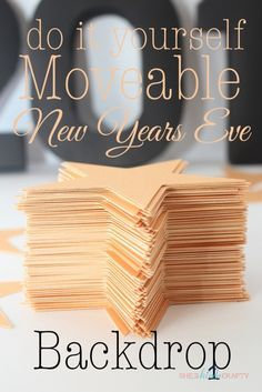 DIY New Year's Eve Backdrop