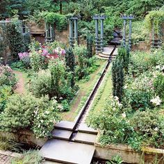 Try using a rill like this as a focal point in your garden! More dream water gardens: http://www.bhg.com/gardening/landscaping-projects/water-gardens/dream-water-gardens/?socsrc=bhgpin063013rill=13