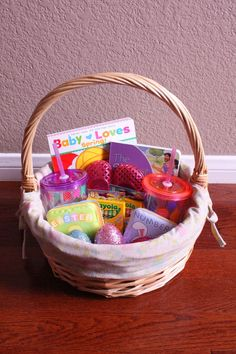 101 easter basket ideas for babies and toddlers that arent candy toddler no candy easter basket ideas negle Images