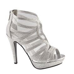 Touch Ups Prom Shoes Style Blake High Heels #RissyRoosProm I like this! The straps fabric make a good combo
