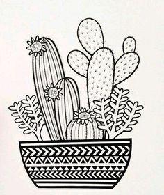 Pattern on the Pot - Cactus Arrangements Ideas - - . - Pattern on the Pot – Cactus Arrangements Ideas – – … – Pencil - Cactus Doodle, Cactus Art, Cactus Plants, Doodle Art Drawing, Mandala Drawing, Drawing Ideas, Doodling Art, Doodle Doodle, Mandala Doodle