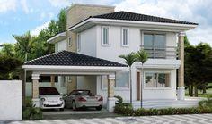 fachada de sobrados com telhado - Pesquisa Google
