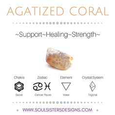 Soul Sisters Designs Healing Crystal Resource Guide offers the Metaphysical properties of each healing crystal, including Chakra, Zodiac, Element and Crystal System/Lattice Information.