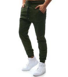 Pánske khaki jogger nohavice
